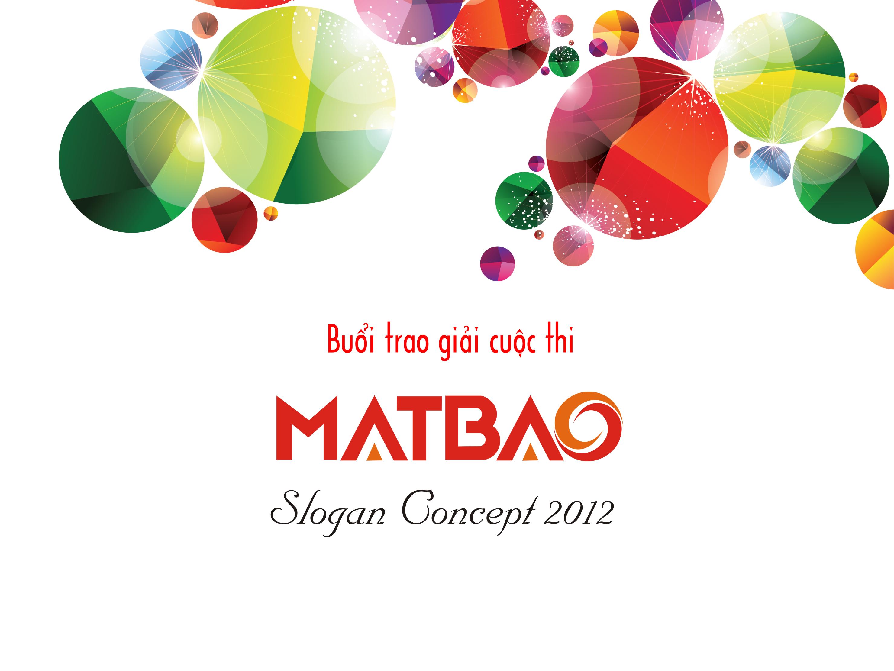 Buổi trao giải cuộc thi Mắt Bão Slogan Concept 2012
