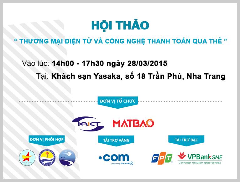 """Hội thảo """"Thương mại điện tử và công nghệ thanh toán qua thẻ"""" 28/03/2015"""