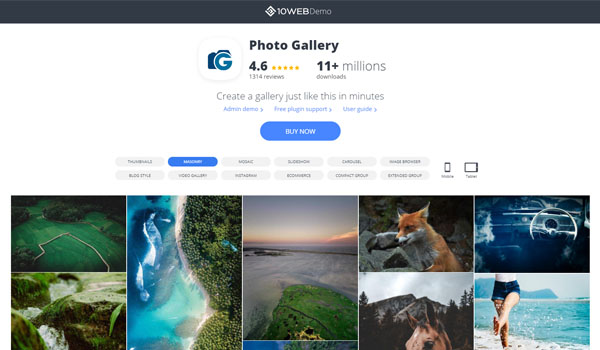 Photo Gallery By 10Web rất dễ sử dụng