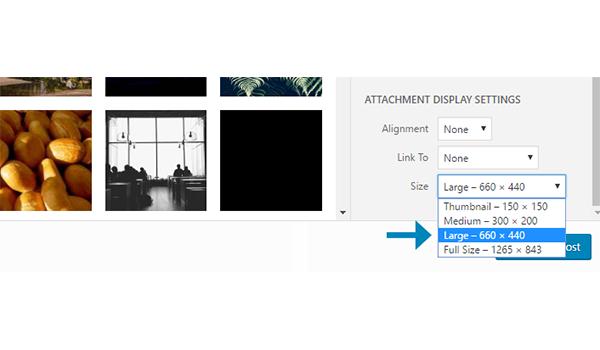 Chia tỉ lệ hình ảnh theo kích cỡ có sẵn