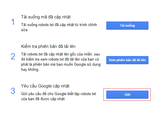 gữi tệp google bot