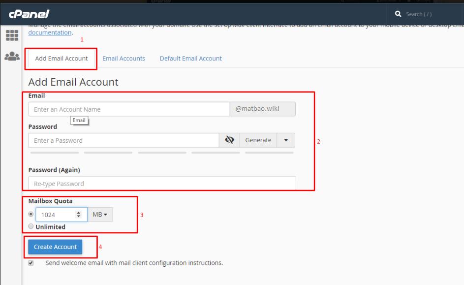 Hướng dẫn tạo email theo tên miền riêng cho doanh nghiệp tại Mắt Bão