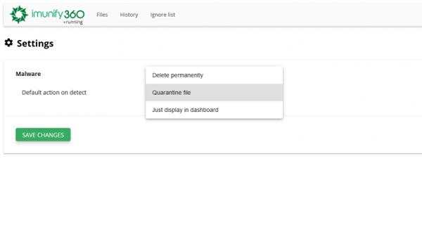 Imunify360 là gì? Nó cho phép tùy chọn hành động khi phát hiện mã độc