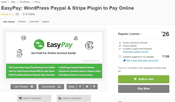Plugin thanh toán wordpress EasyPay